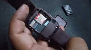 how to put sim card and memory card in smartwatch(in hindi) 7
